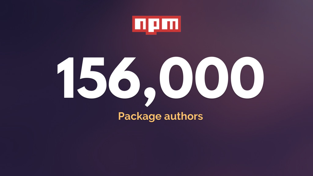 156,000 Package authors