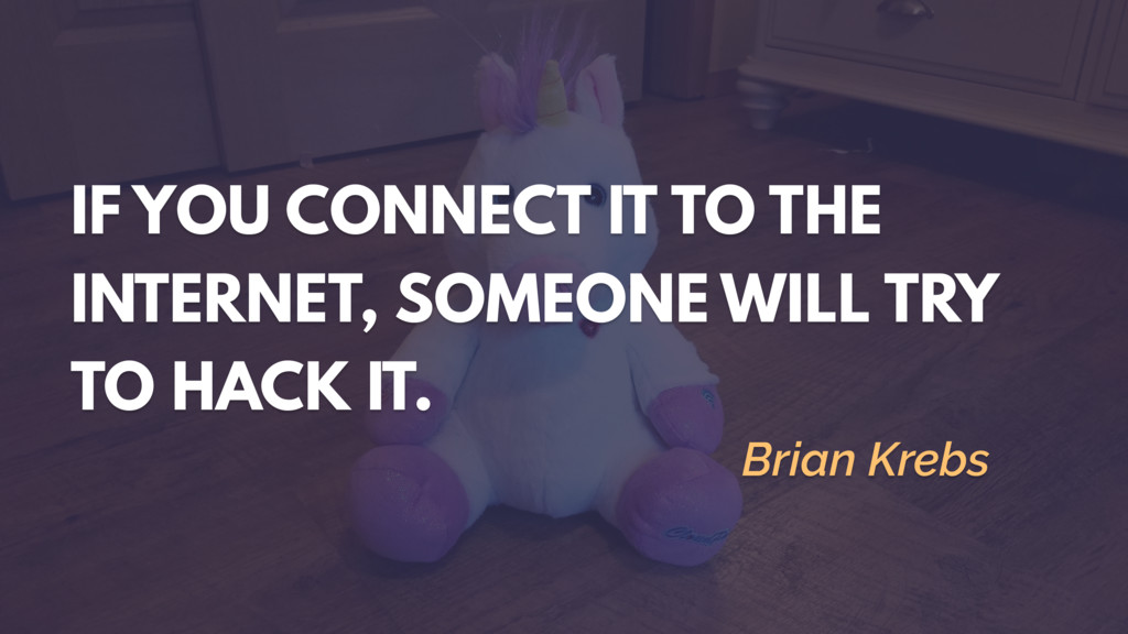 IF YOU CONNECT IT TO THE INTERNET, SOMEONE WILL...