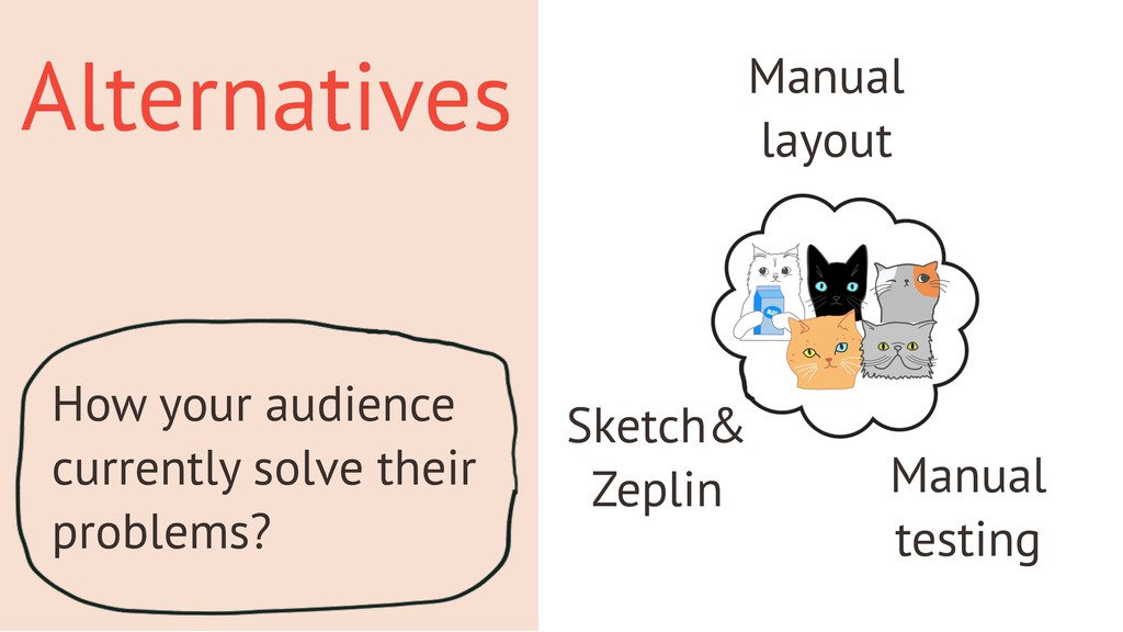 Alternatives How your audience currently solve ...
