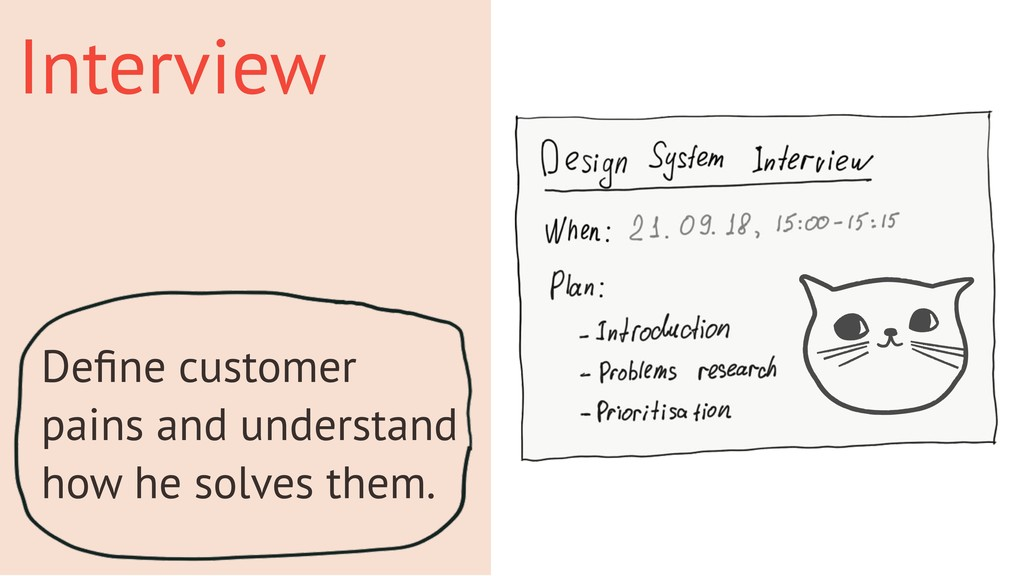 Interview Define customer pains and understand h...