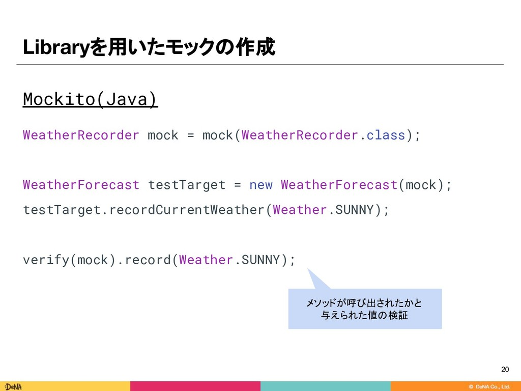 Mockito(Java) WeatherRecorder mock = mock(Weath...