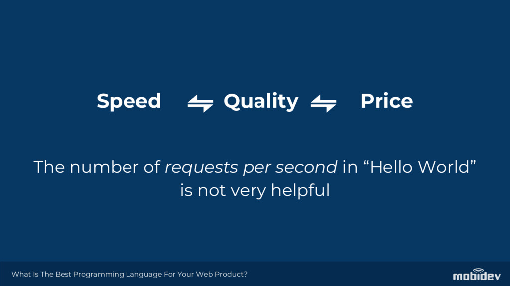 Speed Quality Price The number of requests per ...