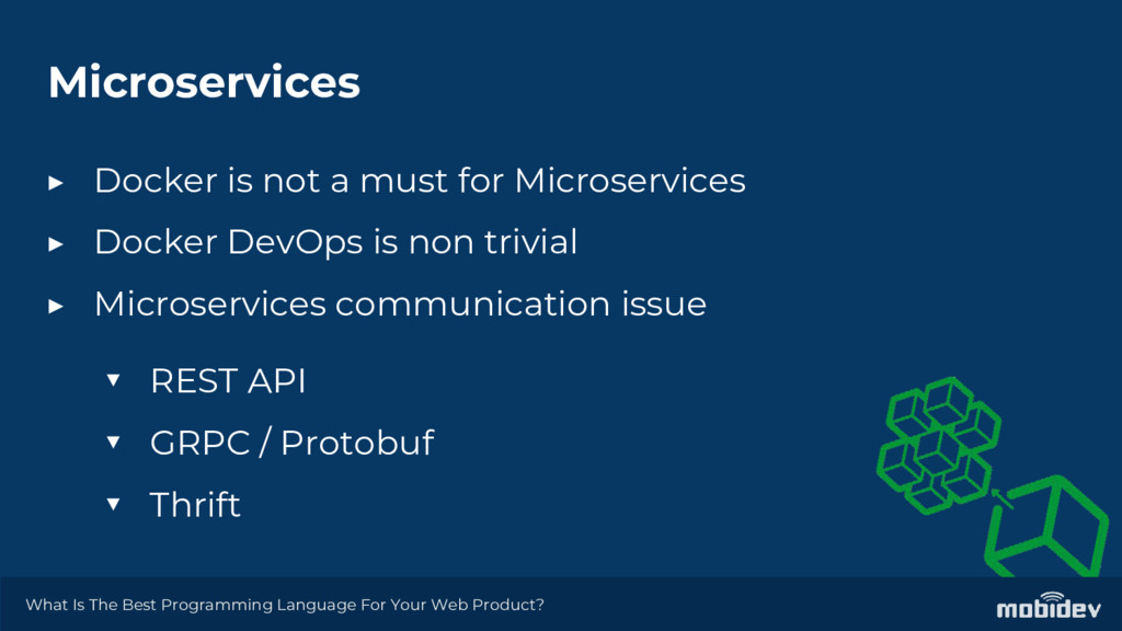 Microservices ▶ Docker is not a must for Micros...