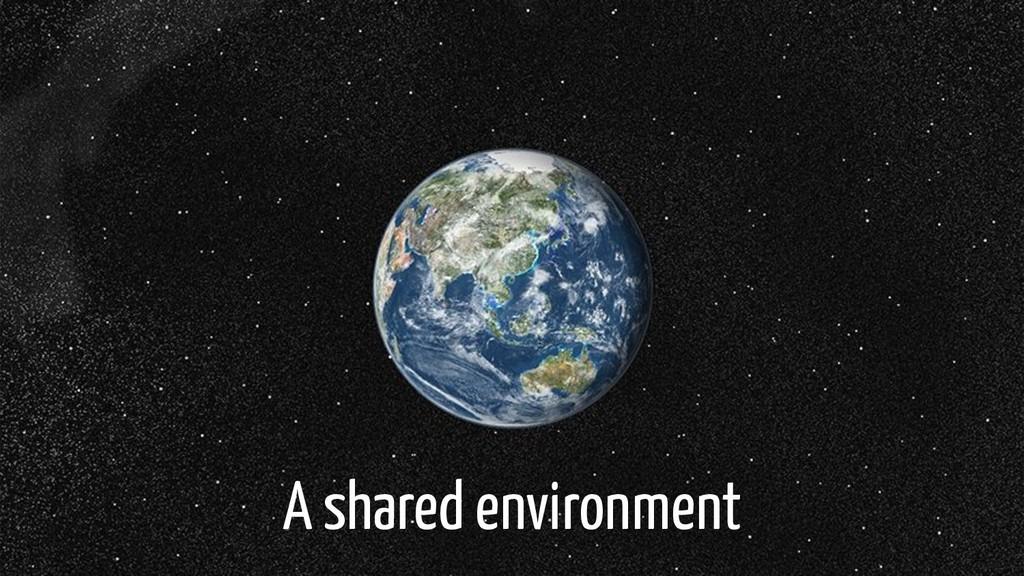 A shared environment