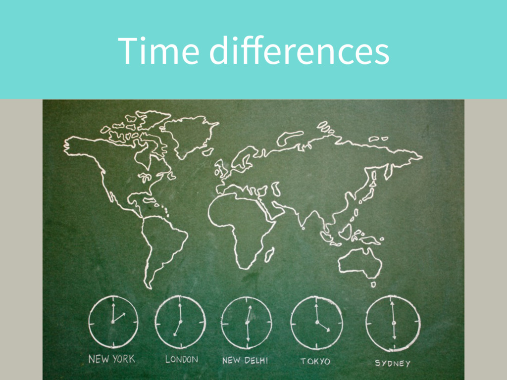 Time differences
