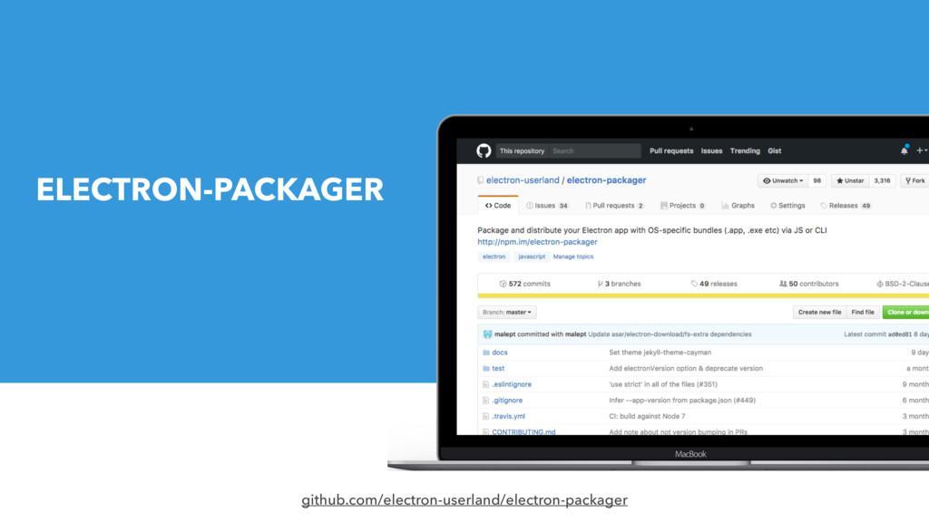 github.com/electron-userland/electron-packager ...