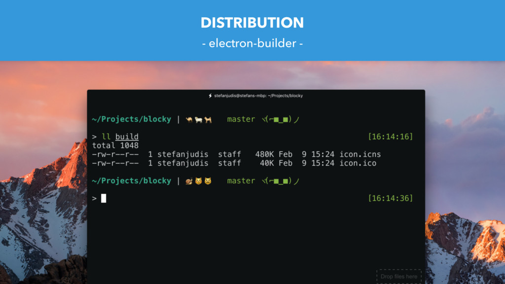 DISTRIBUTION - electron-builder -