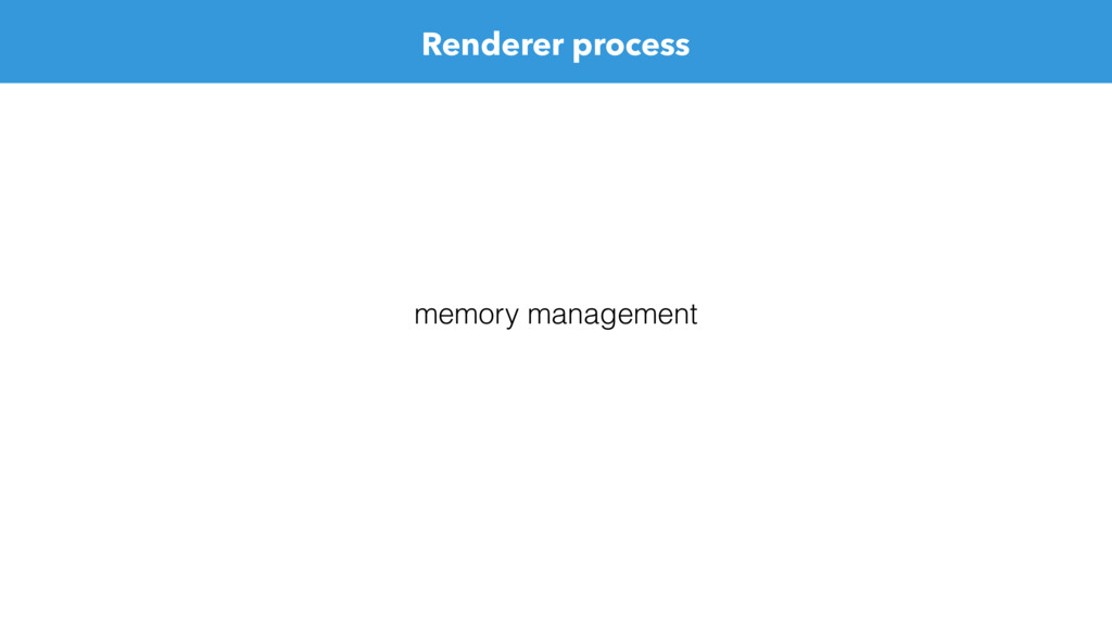 Renderer process memory management