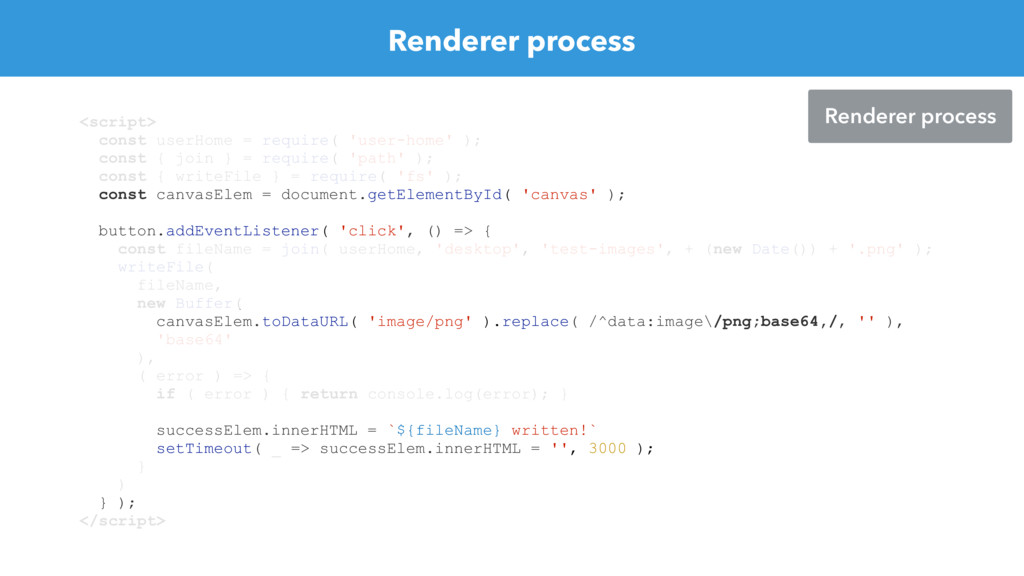 Renderer process <script> const userHome = requ...