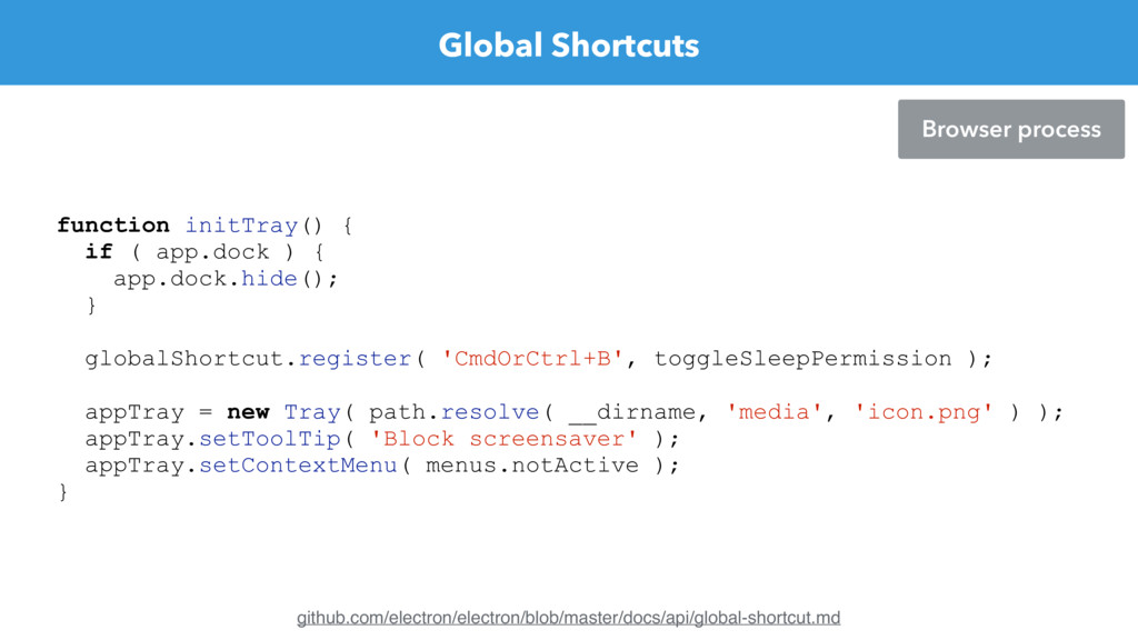 Global Shortcuts Browser process github.com/ele...