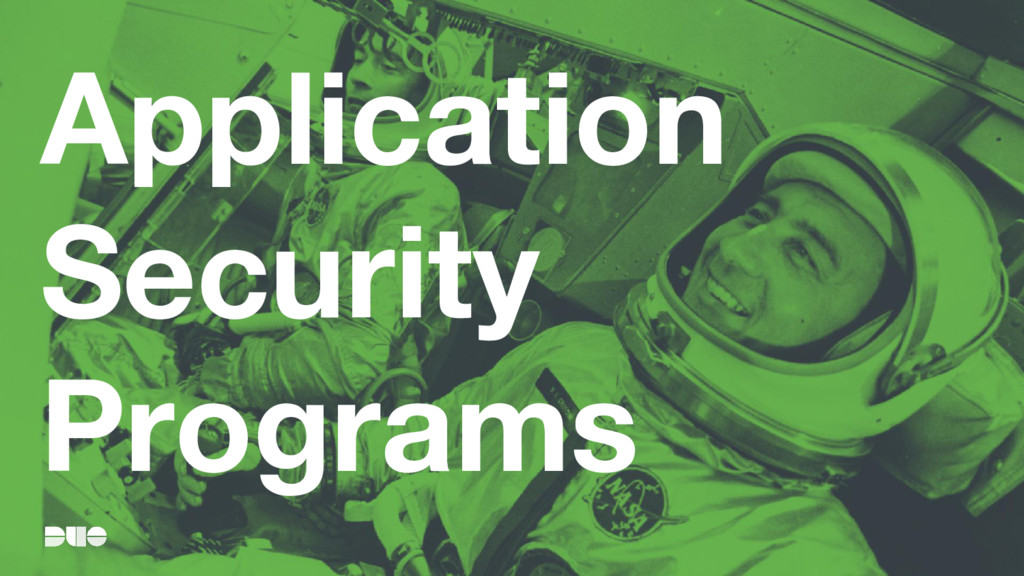 Application Security Programs