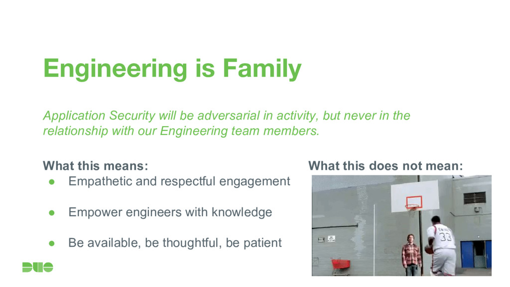 What this does not mean: Engineering is Family ...