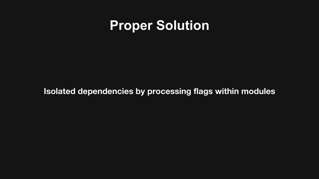 Proper Solution Isolated dependencies by proces...