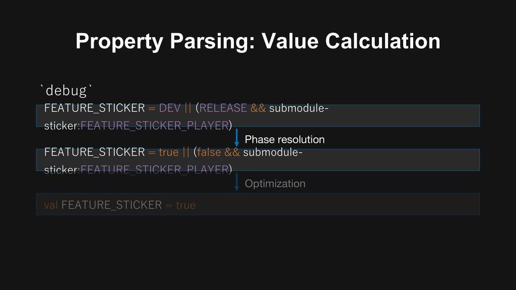 Property Parsing: Value Calculation : E variant...