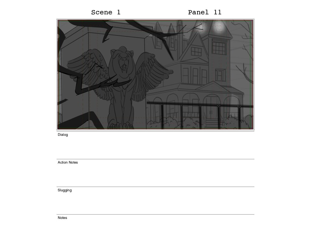 Scene 1 Panel 11 Dialog Action Notes Slugging N...