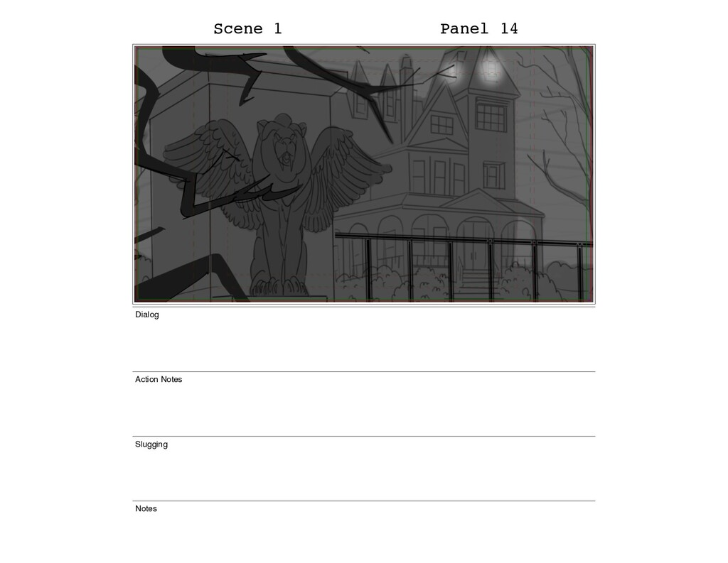 Scene 1 Panel 14 Dialog Action Notes Slugging N...