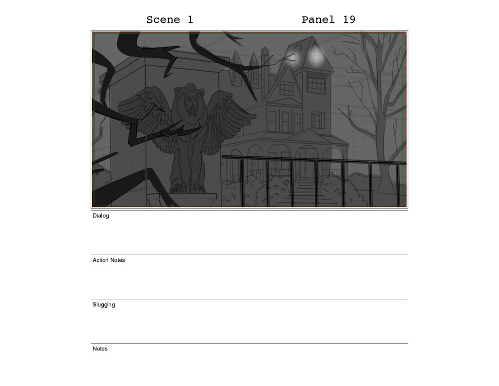 Scene 1 Panel 19 Dialog Action Notes Slugging N...