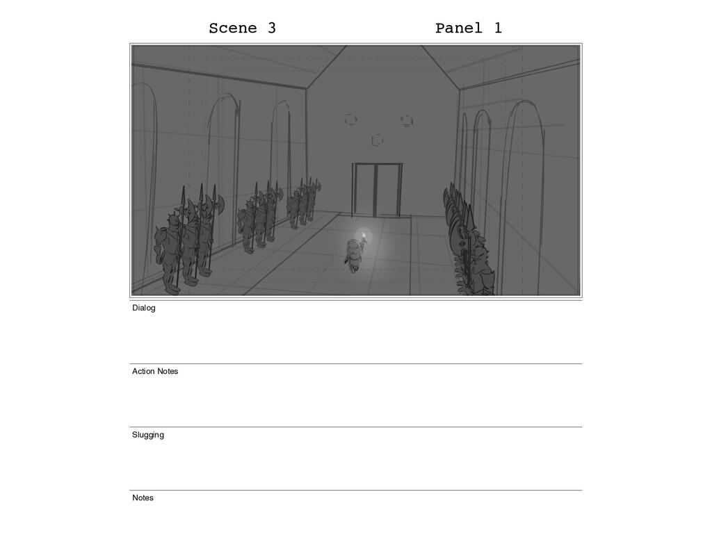 Scene 3 Panel 1 Dialog Action Notes Slugging No...