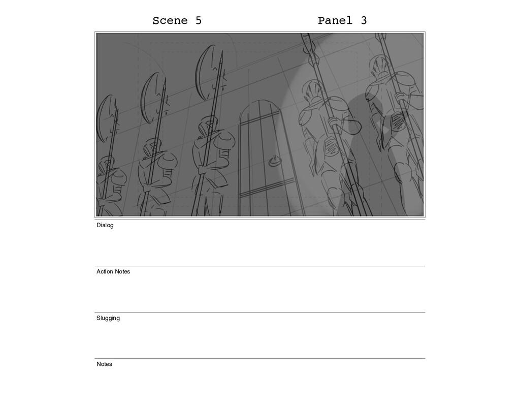 Scene 5 Panel 3 Dialog Action Notes Slugging No...