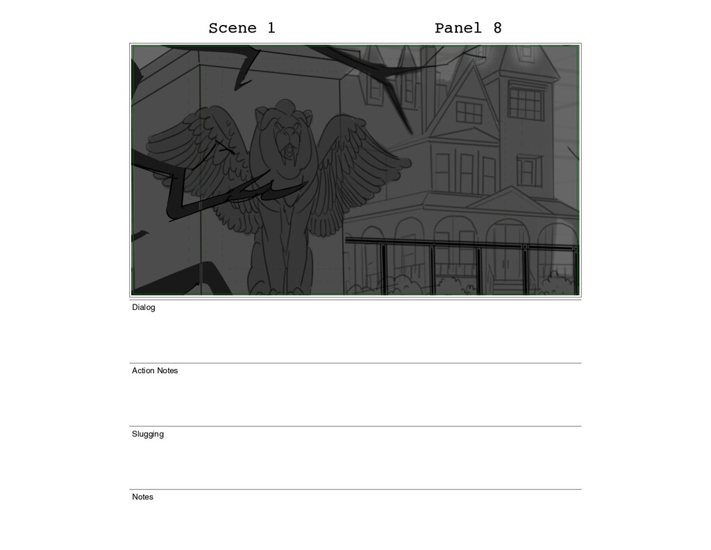 Scene 1 Panel 8 Dialog Action Notes Slugging No...