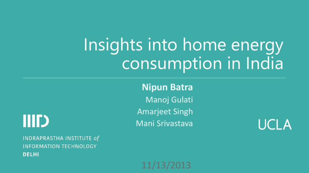 UCLA Insights into home energy consumption in I...