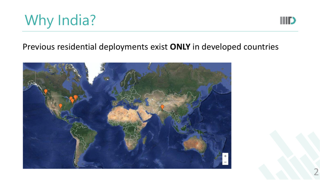 Why India? 2 Previous residential deployments e...