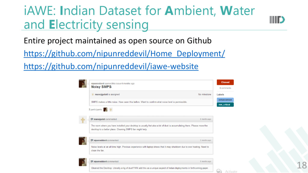 iAWE: Indian Dataset for Ambient, Water and Ele...