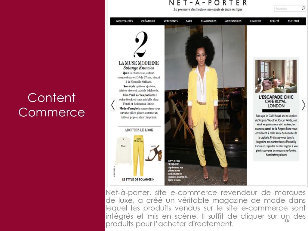 16 Content Commerce Net-à-porter, site e-commer...