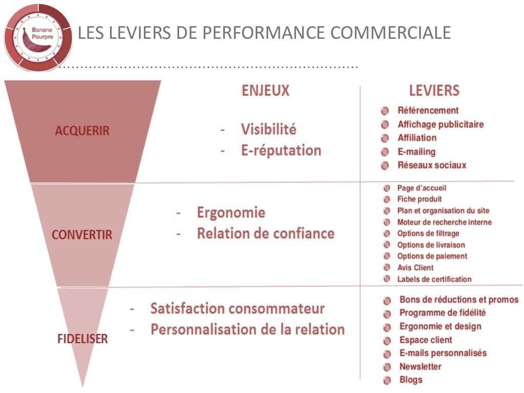 LES LEVIERS DE PERFORMANCE COMMERCIALE