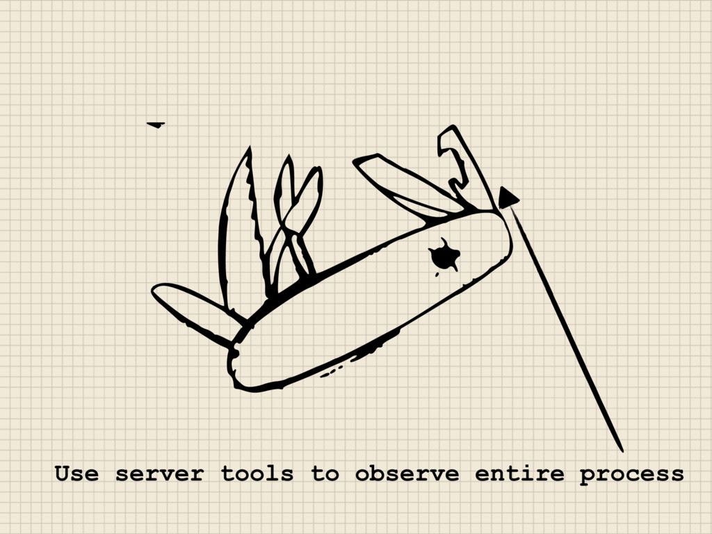 Use server tools to observe entire process