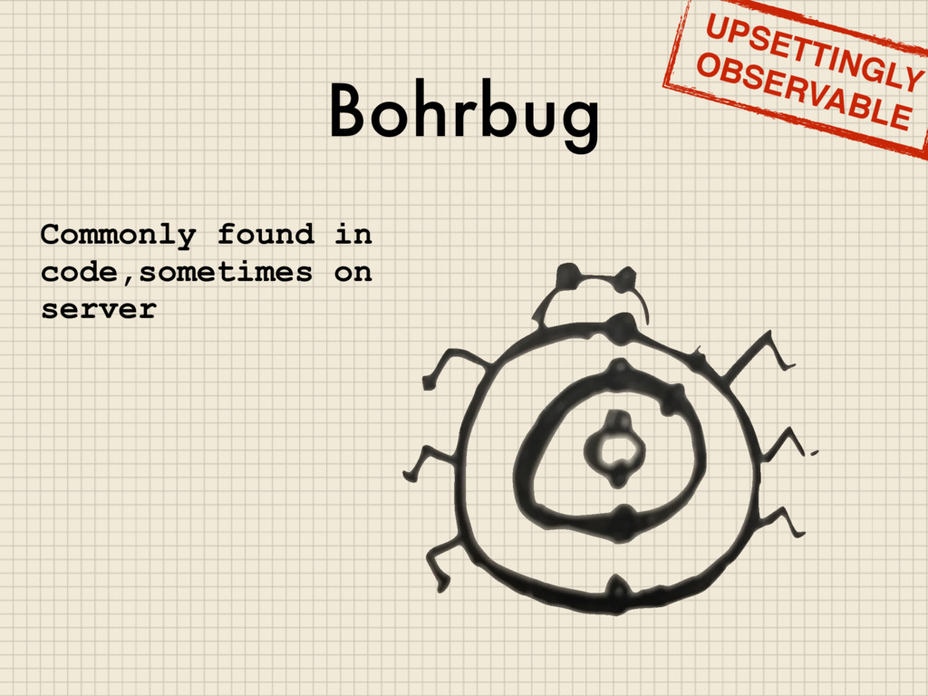 Bohrbug Commonly found in code,sometimes on ser...