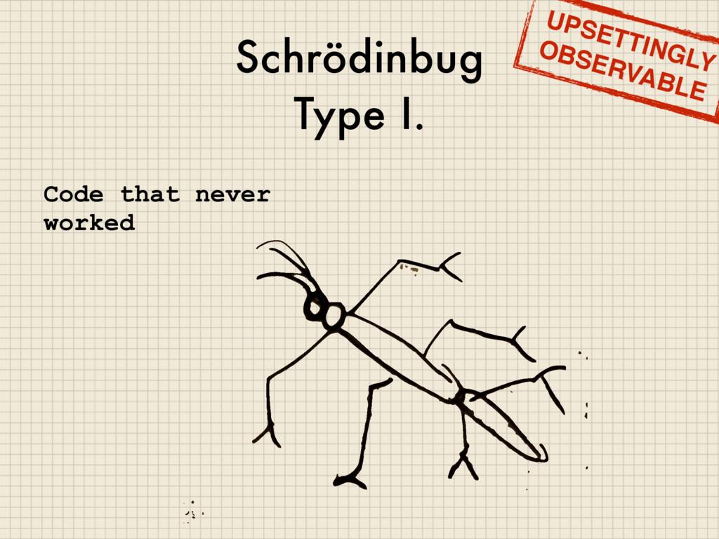 Schrödinbug Type I. Code that never worked UPSE...