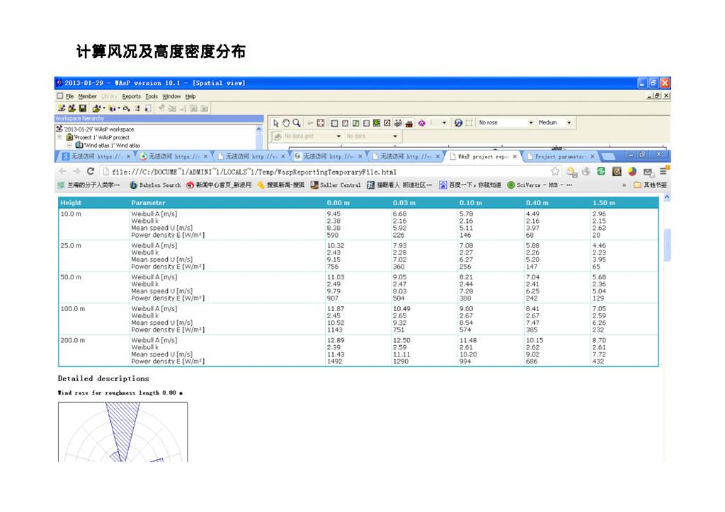 计算风况及高度密度分布 计算风况及高度密度分布 计算风况及高度密度分布 计算风况及高度密度分布