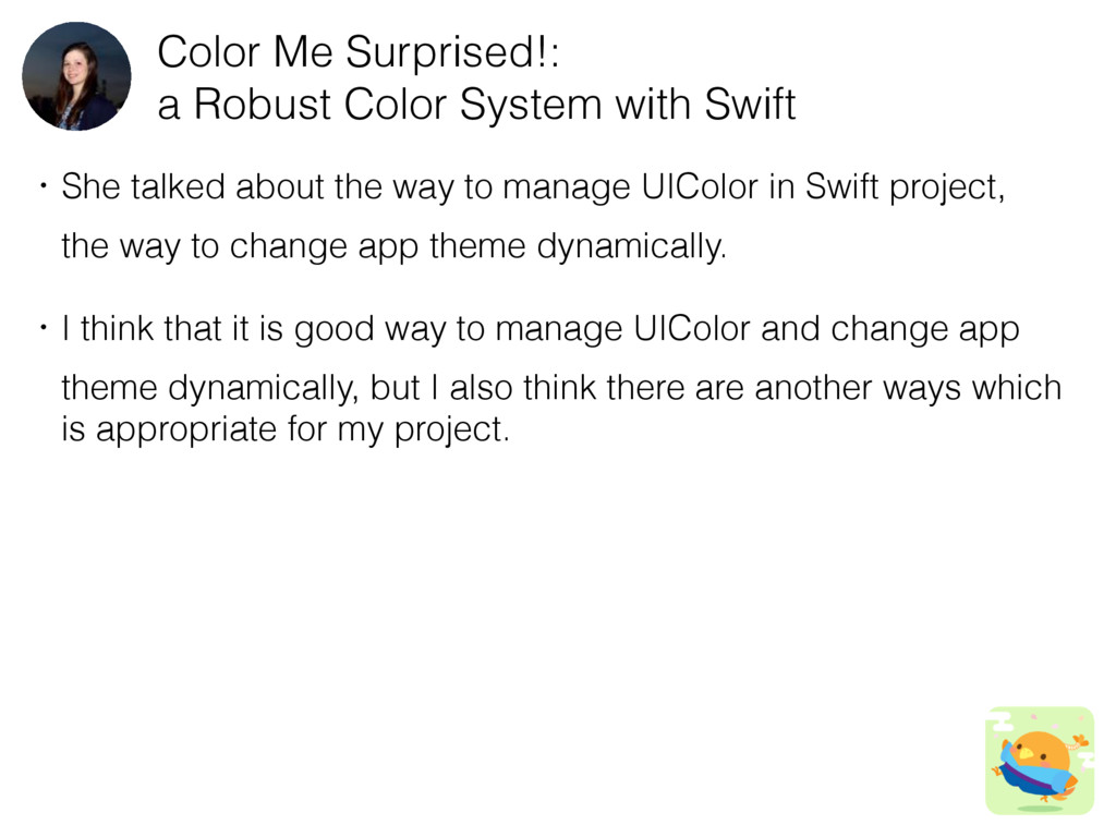 Color Me Surprised!: a Robust Color System with...