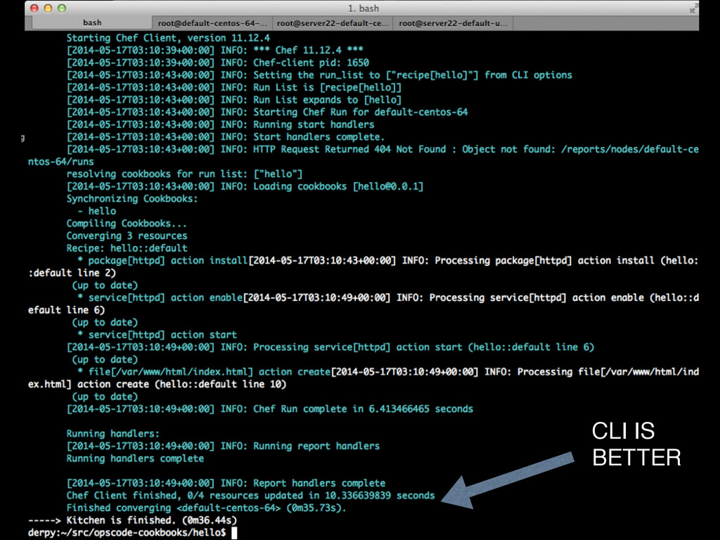 CLI IS BETTER
