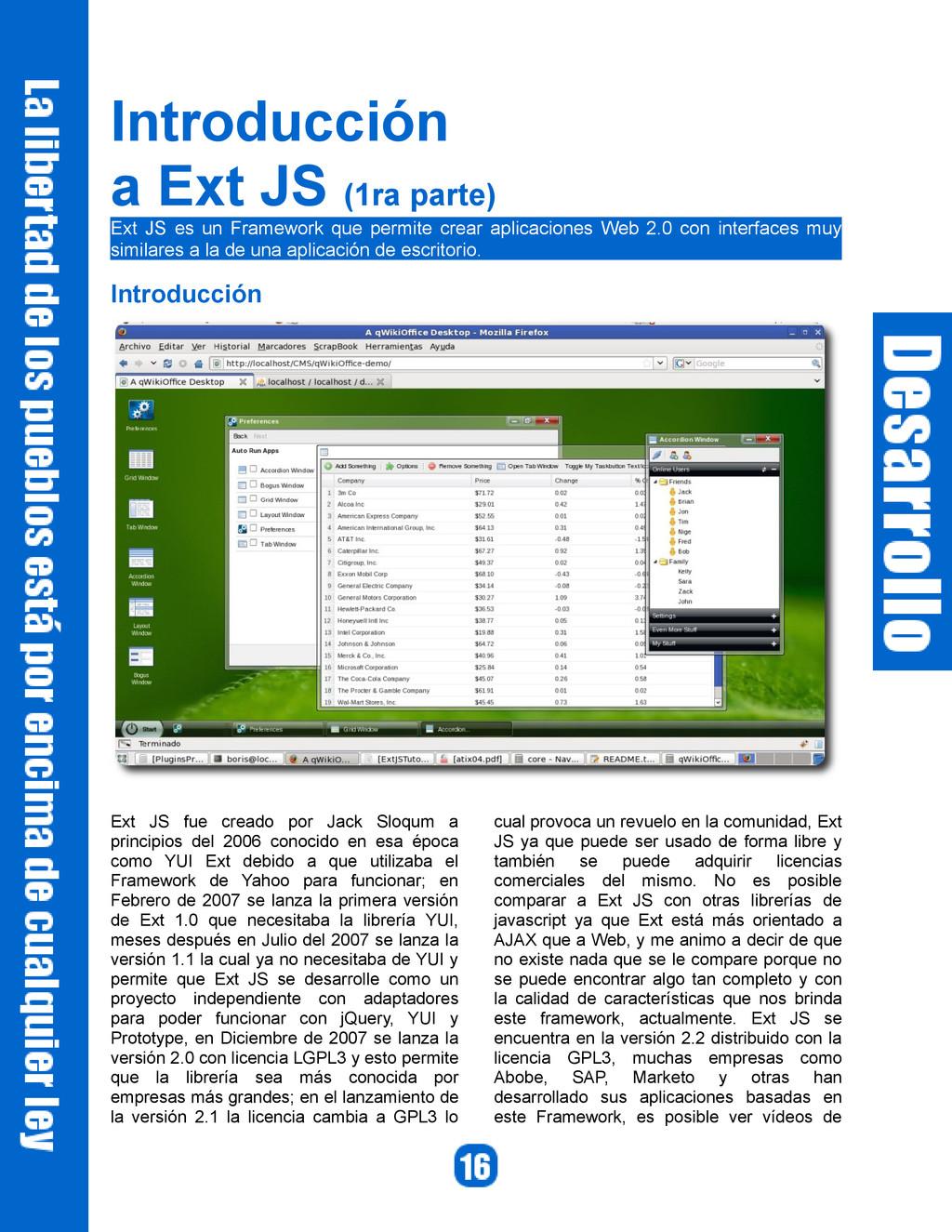 Introducción a Ext JS (1ra parte) Ext JS es un ...