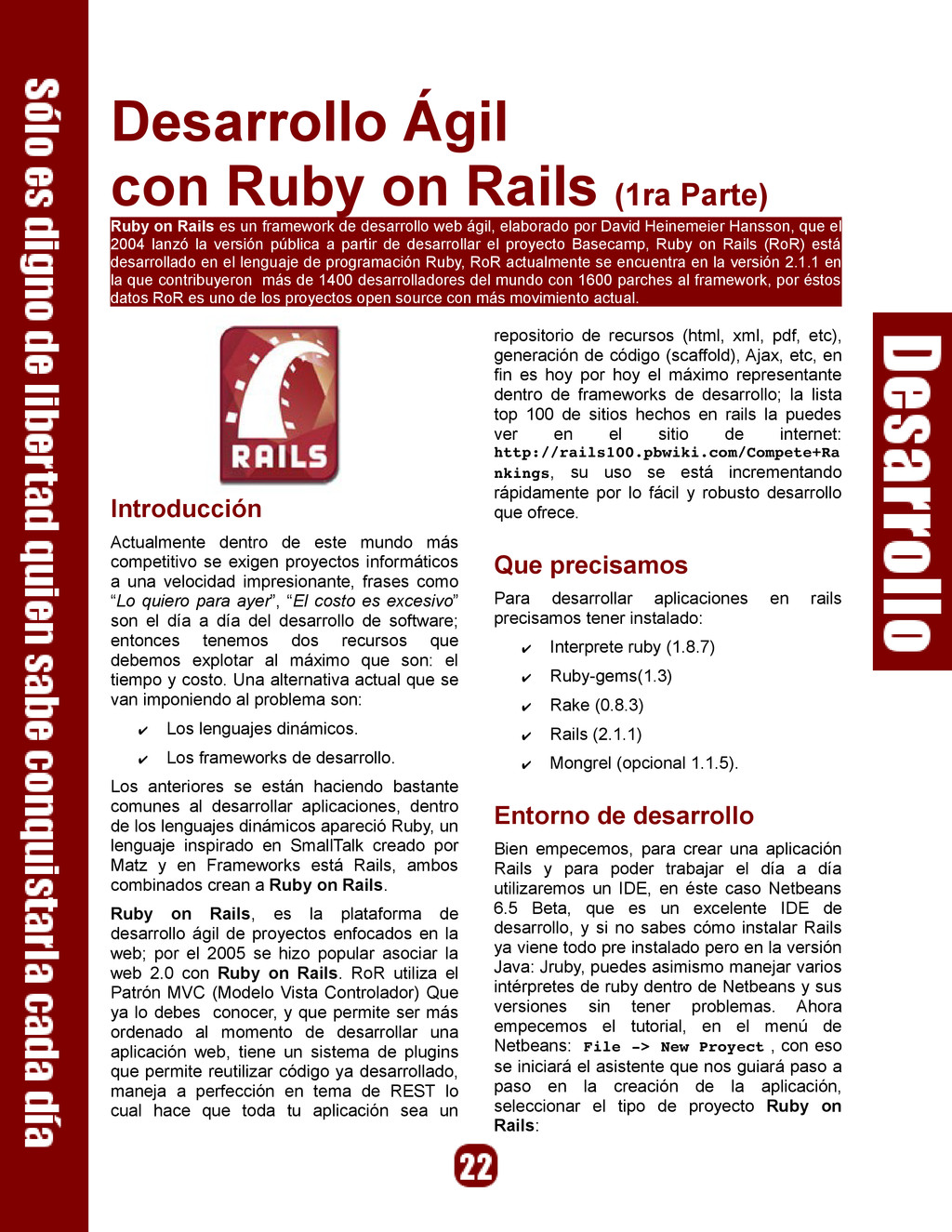 Desarrollo Ágil con Ruby on Rails (1ra Parte) R...
