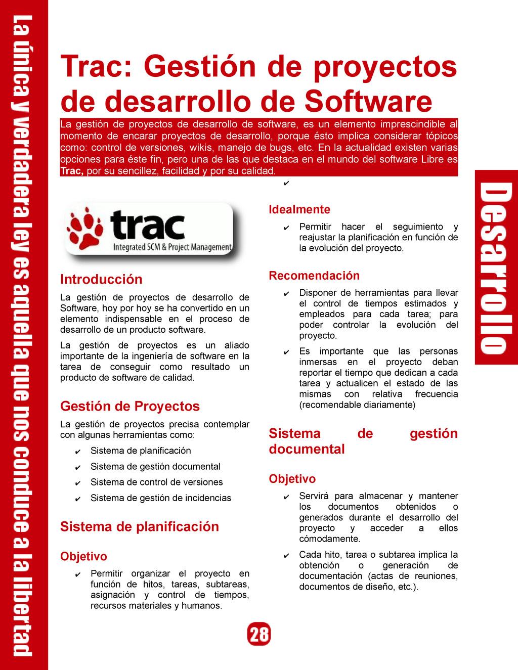 Trac: Gestión de proyectos de desarrollo de Sof...