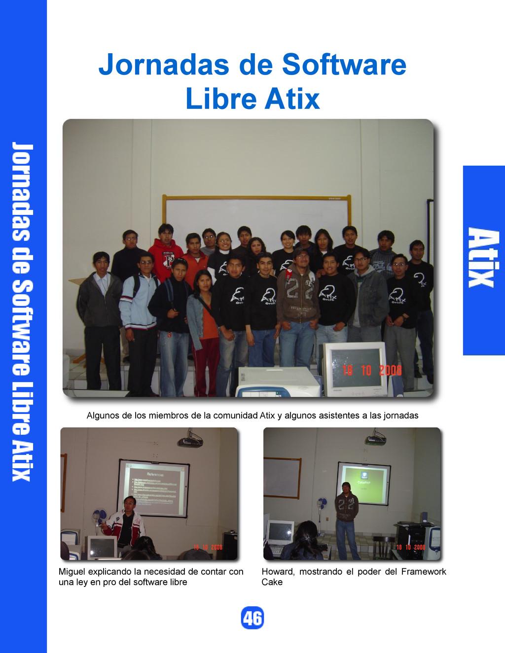 Jornadas de Software Libre Atix Algunos de los ...