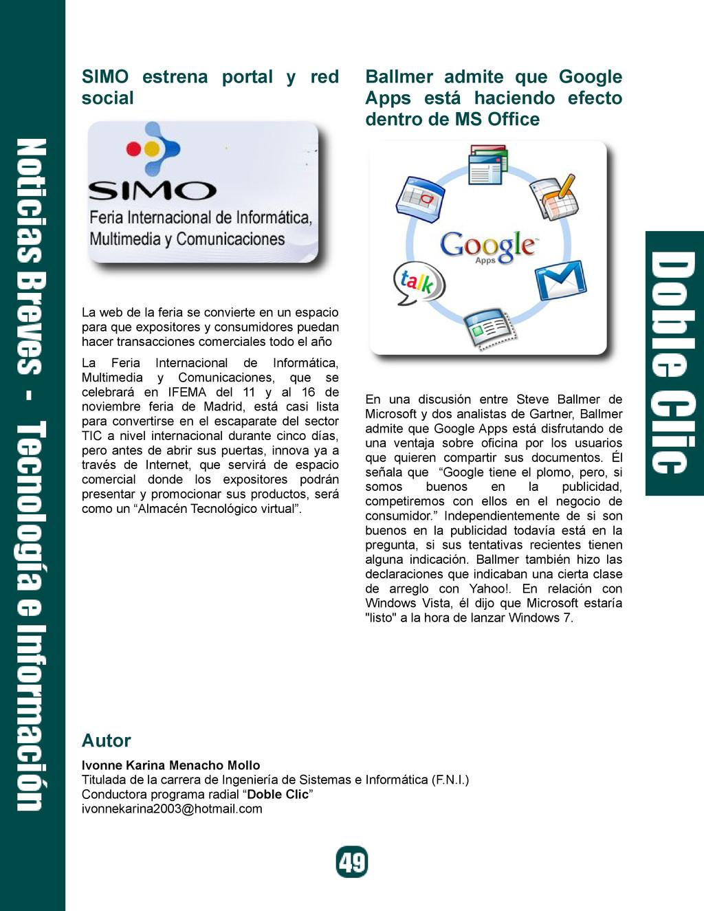 SIMO estrena portal y red social La web de la f...