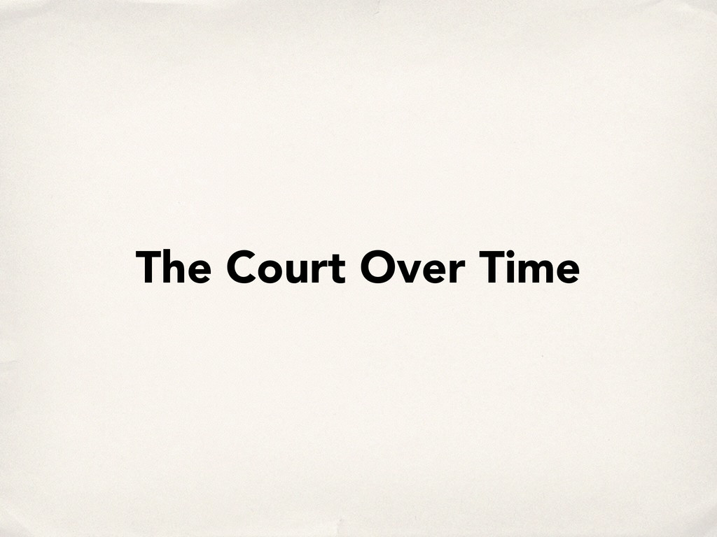 The Court Over Time