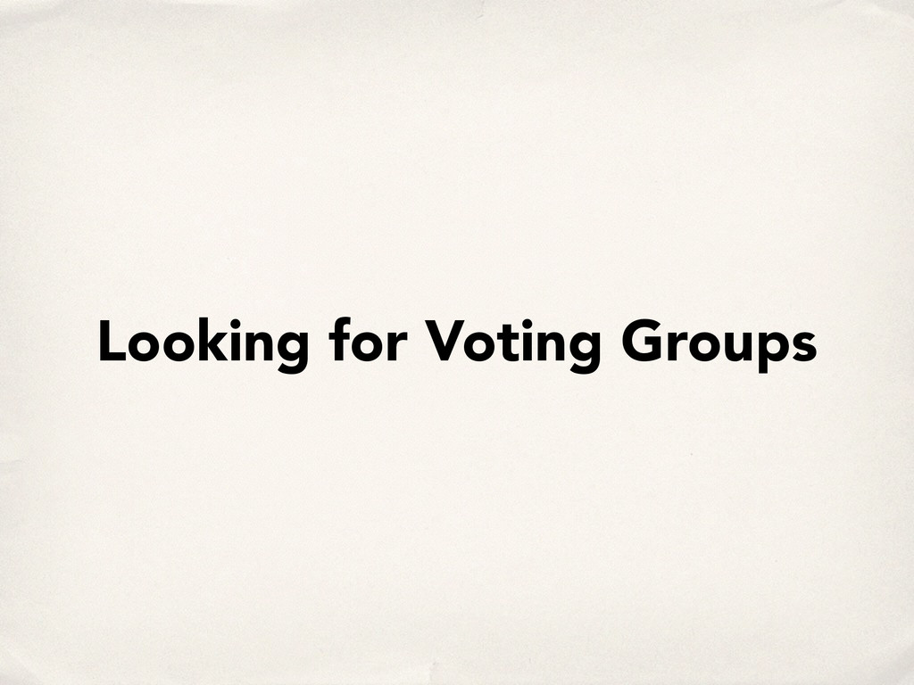 Looking for Voting Groups