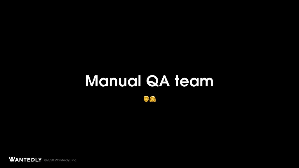 ©2020 Wantedly, Inc. Manual QA team Page Title ...