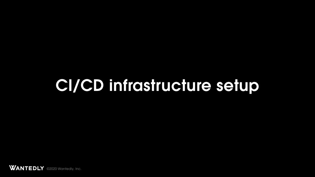 ©2020 Wantedly, Inc. CI/CD infrastructure setup...