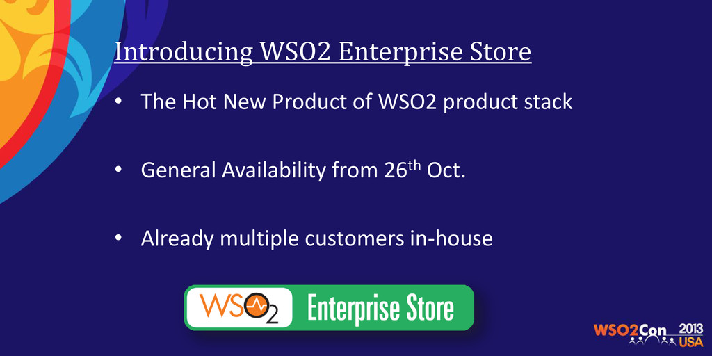 Introducing WSO2 Enterprise Store • The Hot New...