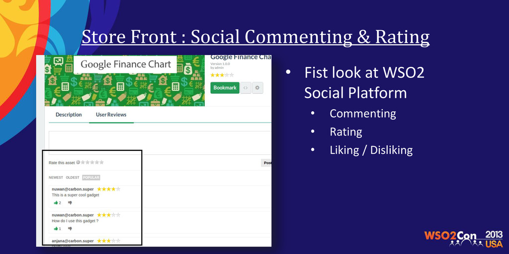 Store Front : Social Commenting & Rating • Fist...