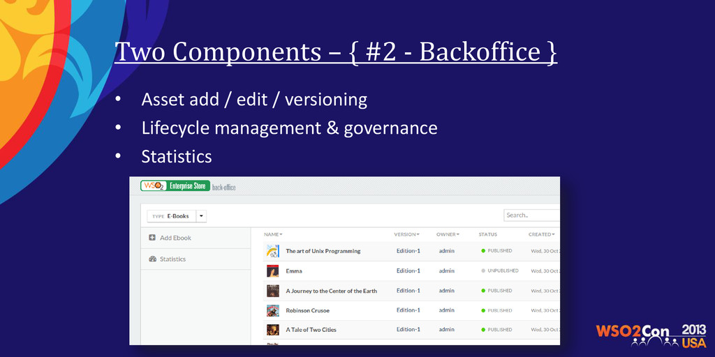 Two Components – { #2 - Backoffice } • Asset ad...