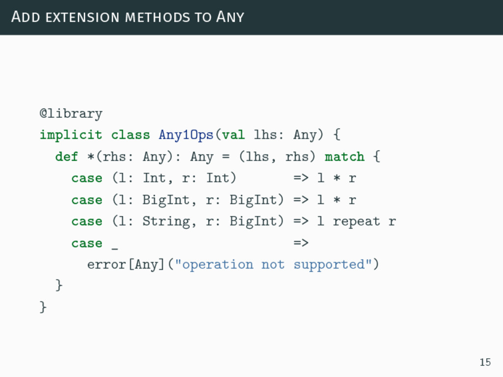 Add extension methods to Any @library implicit ...