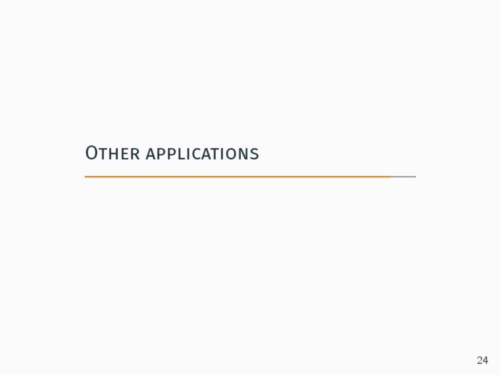 Other applications 24