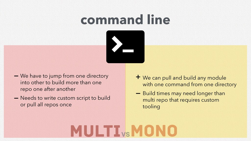 MULTI mono vs command line We can pull and buil...